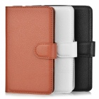 PU Case w/ Card Slots for Xperia E4G - Brown + White + Black (3PCS)