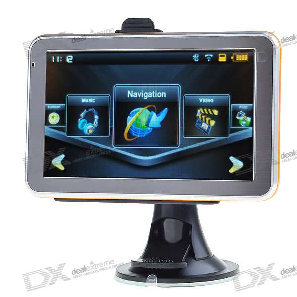 "5.0"" LCD Windows CE 6.0 Core 468MHz GPS Navigator with Bluetooth and USA Canada Maps 4GB TF Card"