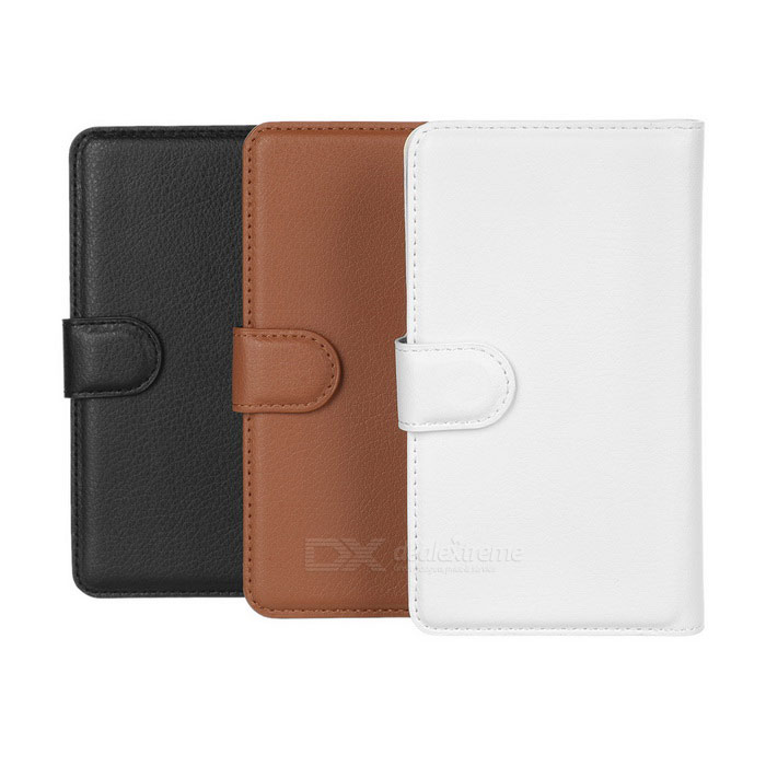 PU Case w/ Stand for Sony Xperia E4 - Brown + White + Black (3PCS)