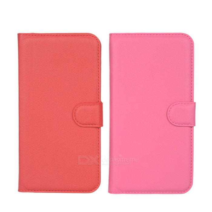 PU Cases w/ Card Slots for Huawei Ascend G7 - Red + Deep Pink (2PCS)Leather Cases<br>Form ColorRed + Deep PinkModelN/AMaterialPU leatherQuantity1 DX.PCM.Model.AttributeModel.UnitShade Of ColorRedCompatible ModelsHuawei Ascend G7Packing List1 x Red case1 x Deep pink case<br>