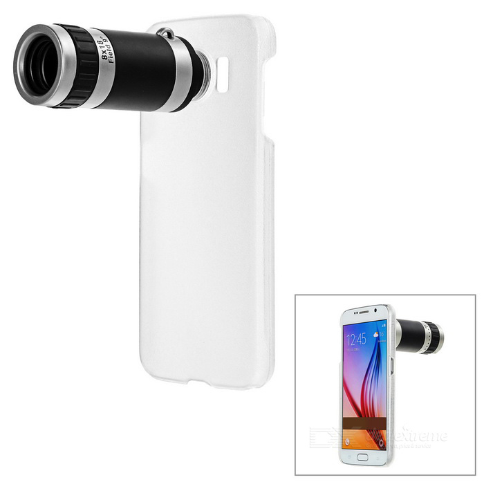 8X Telescope w/ Back Case for Samsung Galaxy S6 - Black + Silver