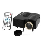 Mini Portable 1080P HD Home LED Projector w/ AV, USB, SD, VGA, HDMI - Black