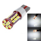 T10 15W LED auto Clearance Lamp Wit Licht 6000K 800lm 30-SMD 2835-Red + Silver (12 ~ 24V / 2 PCS)