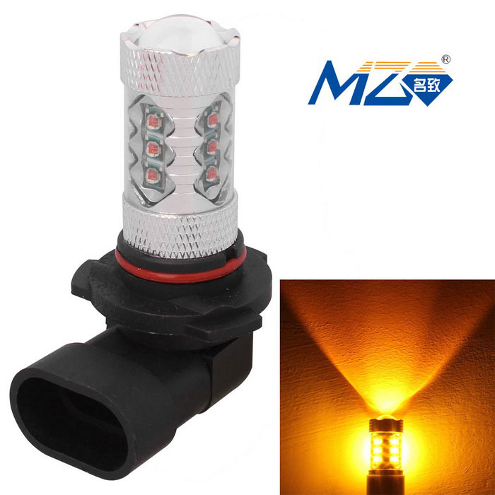 MZ 9006 80W 4000lm 16*XT-E LED Yellow Car Fog Light (12~24V)