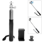 Extendable Aluminum Alloy Wired Control Selfie Monopod for GoPro + Smart Phone + More (23-80cm)
