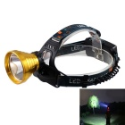 KINFIRE XM-L T6 3-Mode Big-Cup Night Headlamp White 650lm w/ US Plug Charger - Golden (2 x 18650)