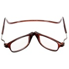 NEJE Folding Magnetic Magnetic 1.0D Reading Presbyopic Glasses - Brown