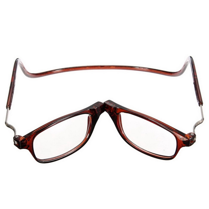 912a47320e7 NEJE Unisex Folding Magnetic Magnifying Neck Hanging Reading 1.0D Presbyopic  Glasses - Brown