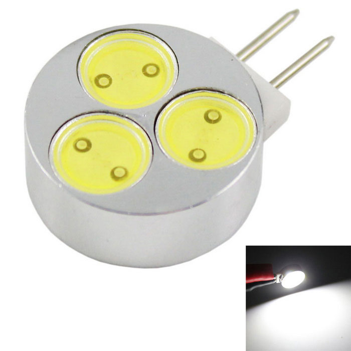 G4 3W 3-COB LED Small Spotlights Cool White Light 240lm (DC 12V)