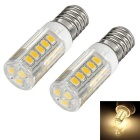 exLED E14 3.5W LED Bulb Lamp Warm White Light 3000K 350lm 30-SMD 2835 Ceramic (AC 220V / 2pcs)
