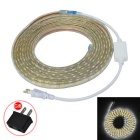 JIAWEN Waterproof 30W 2400lm 6500K 300-SMD 5050 LED White Light Strip w/ US Plug (AC 220V / 500cm)