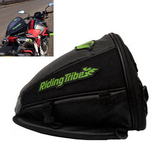 RIDING TRIBE G-XZ-017 Water Resistant Motorcycle Tail Bag - Black