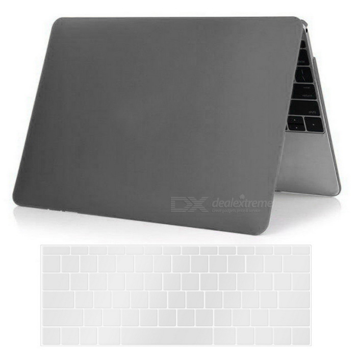 Mr.northjoe PC Matte Case + Keyboard Cover for MACBOOK 12 - Grey