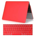"Mr.northjoe 2-in-1 Ultra-Slim Crystal Hard Case + Keyboard Cover for MACBOOK 12"" - Transparent Red"