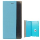 Intelligent Dislay Flip Open Protective PU Case for Huawei P8 - Blue