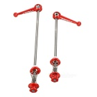 AEST YQR-02 2-in-1 CNC Titanium Alloy Bike Bicycle Tapered Quick Release Skewers Set - Red