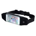 Sports Touch Screen Waterproof Waist Bag Pouch for IPHONE 6 - Black