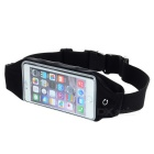 Sports Touch Screen Water-proof Waist Bag Case for IPHONE 6PLUS -Black