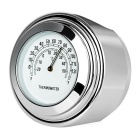 Motorcycle Handlebar Mounted Aluminum Alloy Temperature Meter Thermometer - Silver
