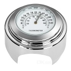 Motorcycle Handlebar Mounted Temperature Meter Thermometer - Silver