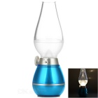 0.4W 3-LED Blowing Control Dimmable Retro Kerosene Lamp Designed Night / Desk Lamp - Blue (5V)
