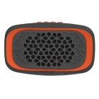 MAIKOU Y15 Outdoor Portable Bluetooth V3.0 Speaker w/ FM, Micro USB, TF, USB - Orange + Deep Grey
