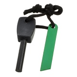 FURA Outdoor Survival Fire Starter Flintstone Magnesium Rod - Black