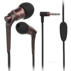 JBMMJ MJ-6600 Hi-Fi 3.5mm Plug Wired In-Ear Earphone w/ Mic / Remote - Coffee + Black