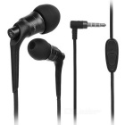JBMMJ MJ-6600 Hi-Fi 3.5mm Plug Wired In-Ear Earphone w/ Mic / Remote - Black