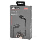 JBMMJ MJ-6600 Hi-Fi 3.5mm In-Ear Earphone w/ Mic / Remote - Black