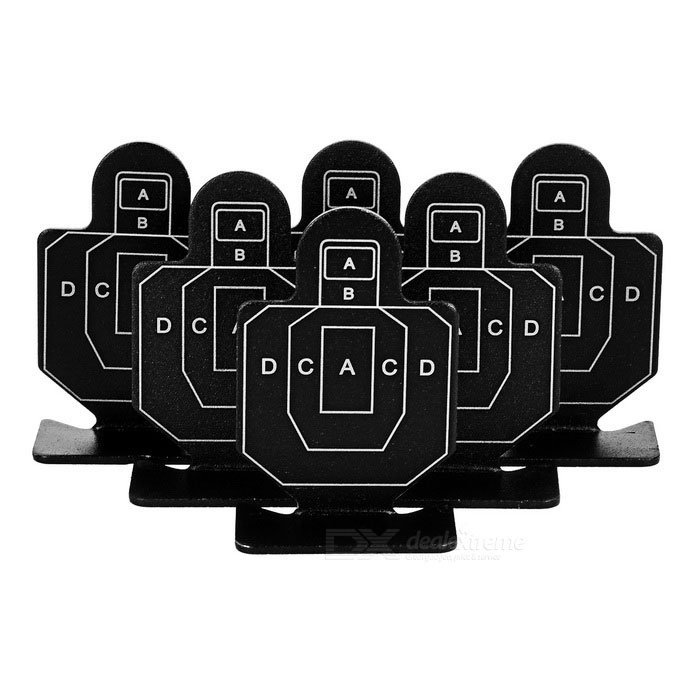 Square Aluminum Alloy Target Set - Black + White (6PCS)Other Accessories<br>Form  ColorBlack + WhiteMaterialAluminum alloyQuantity1 DX.PCM.Model.AttributeModel.UnitPacking List6 x Targets<br>