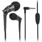 JBMMJ MJ-6600 Hi-Fi 3.5mm Plug Wired In-Ear Earphone w/ Mic / Remote - Iron Grey + Black