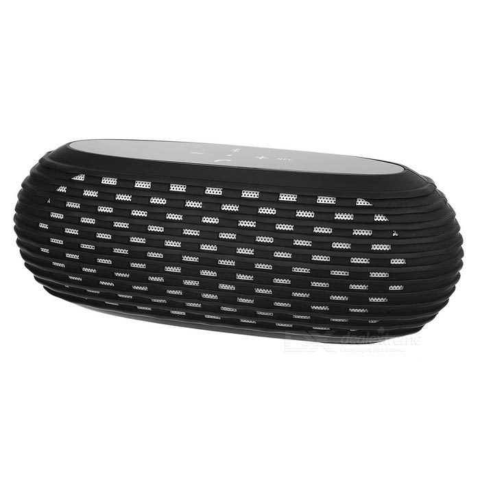 Outdoor Bluetooth Subwoofer Speaker w/ TF Slot, Mic for Phone - Black