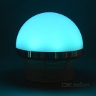 Mushroom Style Mini BT V2.1 Speaker w/ RGB LED, TF - Silver + White