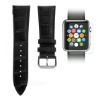42mm Bamboo Pattern Watch band for APPLE Watch / PUDINI + Tempered Screen Protector Set - Black