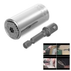 2-in-1 Multi-functional 7~19mm Screwdriver Socket + 3/8 Connecting Rod Set – Silver