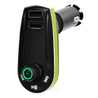 "1.1"" carro MP3 player / transmissor FM w / dual USB / TF / 3.5mm - verde"