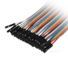 DIY 40pin Female to Female + Male to Male + Female to Male Jumper Cable Set - Multicolor (21cm)