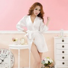 Sexy Home Robe Sleepwear Lingerie / Sauna Clothes - White (Free Size)