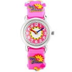 Beauty Cheerleader Style Children Silicone Watch - Pink (1*SR626)