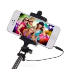 Universal Wired Selfie Monopod w/ Phone Clip - Blue