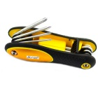 Jtron 8-in-1 Slotted / Cross Screwdriver Set - Yellow