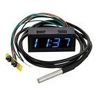 "3-in-1 Car Time / Voltage / Temperature Meter w/ 2"" Blue LED Display"