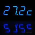 "Car Time / Voltage / Temperature Meter w/ 2"" Blue LED Display - Black"