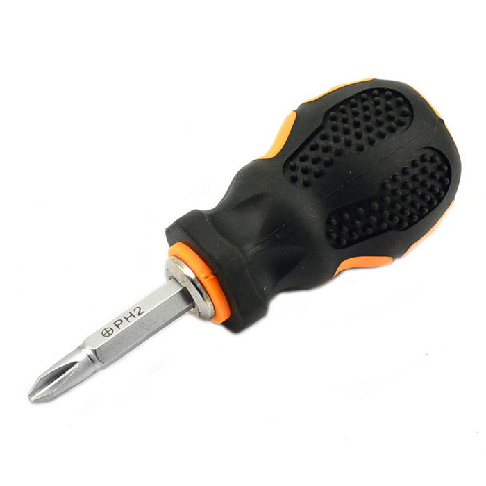 Jtron 6*38mm Slotted / Cross Screwdriver - Black