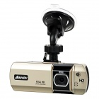"Amkov PH-007 CMOS 170' Car DVR Video Recorder w/ 2.7"" HD 1080P, 5MP, Motion Detection - Champagne"