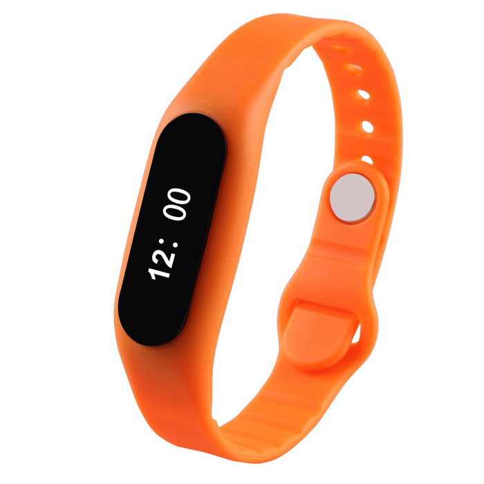 "E06 Sports 0.69"" BT V4.0 Smart Bracelet w/ Activity Tracker - Orange"