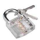 Transparent Lock + 5PCS Lockpicks Training Tool Set