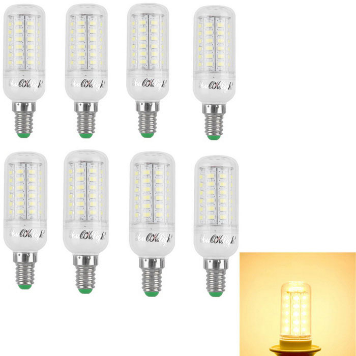 YouOKLight E14 15W LED Corn Lamps Warm White Light 3000K 56-SMD (8PCS)