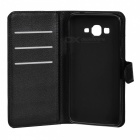 PU Case w/ Stand, Card Slots for Samsung Galaxy Grand Prime - Black